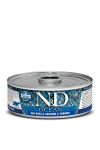 N&D CAT OCEAN SEA BASS & SARDINE & SHRIMPS ADULT 80G