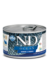 N&D DOG OCEAN HERRING & SHRIMPS ADULT MINI 140G