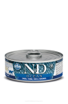 N&D CAT OCEAN SMALL TUNA & CODFISH & SHRIMPS ADULT 80G